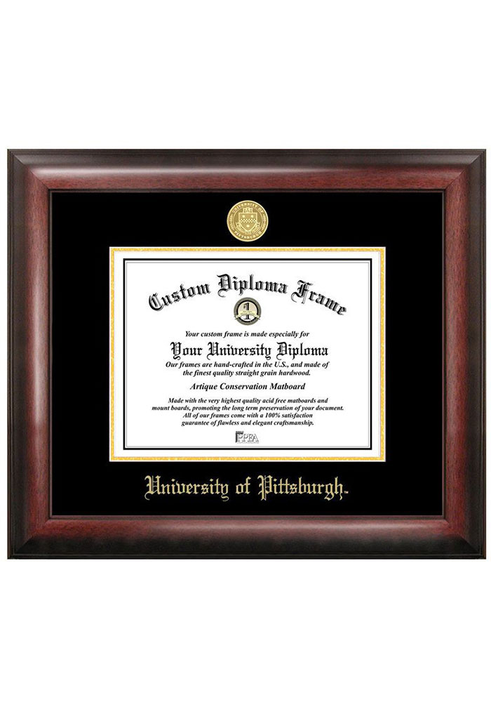 Pitt Panthers Gold Embossed Diploma Frame Picture Frame - Image 1