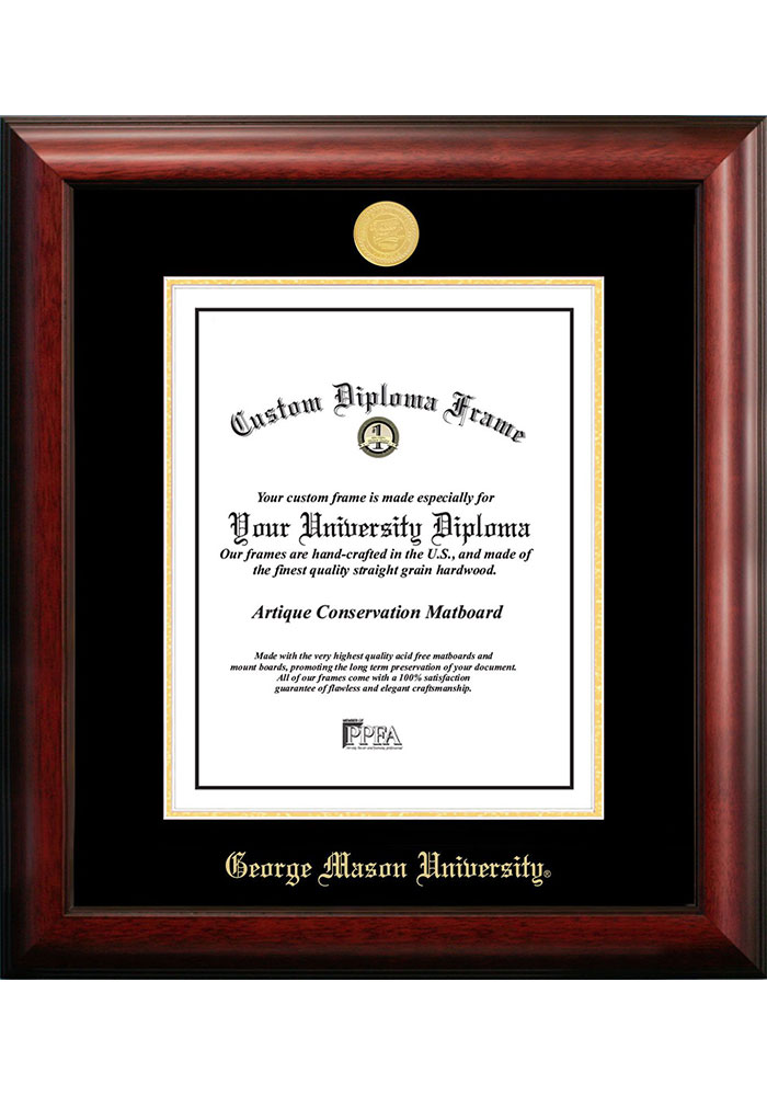 George Mason University Gold Embossed Diploma Frame Picture Frame 7491313