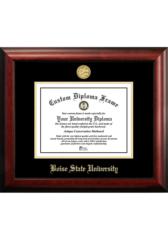 Boise State Broncos Gold Embossed Diploma Frame Picture Frame 7491331
