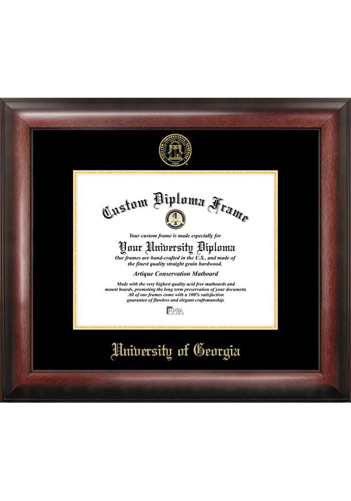 Georgia Bulldogs Gold Embossed Diploma Frame Picture Frame - Image 1