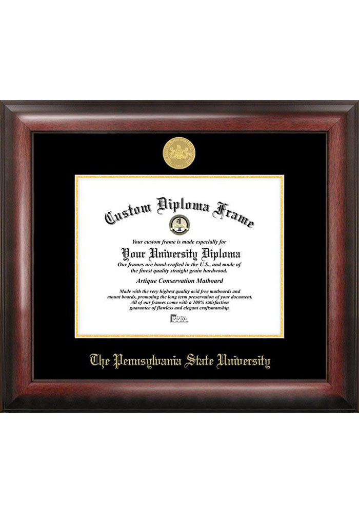 Penn State Nittany Lions Gold Embossed Diploma Frame Picture Frame - Image 1