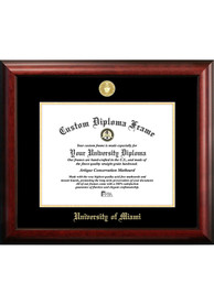 Miami Hurricanes Gold Embossed Diploma Frame Picture Frame