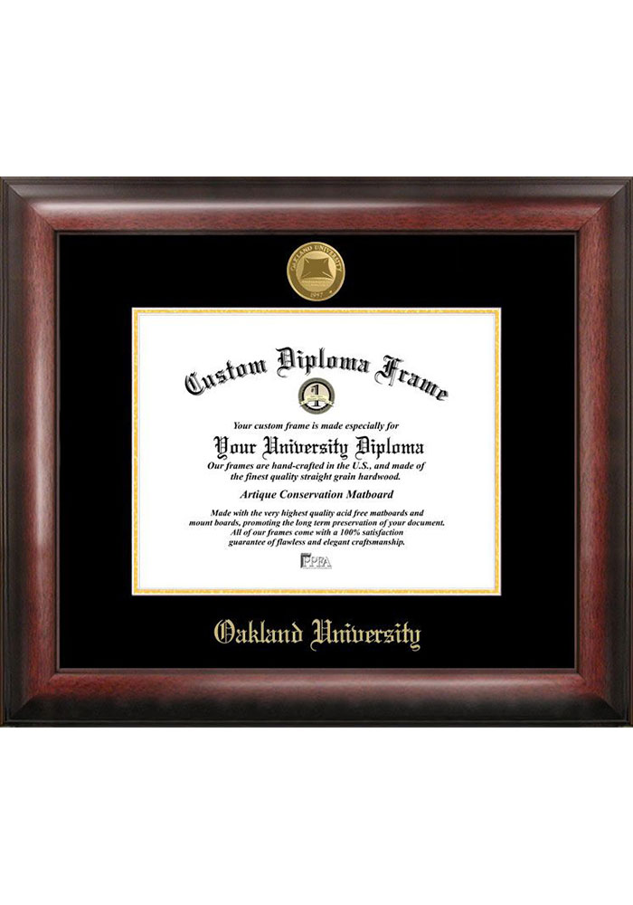 Campus Images Oakland University Gold Embossed Diploma Frame
