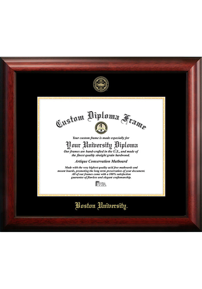Boston Terriers Gold Embossed Diploma Frame Picture Frame - Image 1