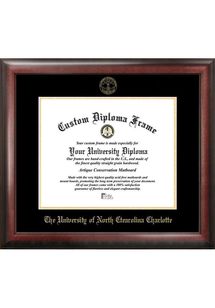 UNCC 49ers Gold Embossed Diploma Frame Picture Frame - Image 1