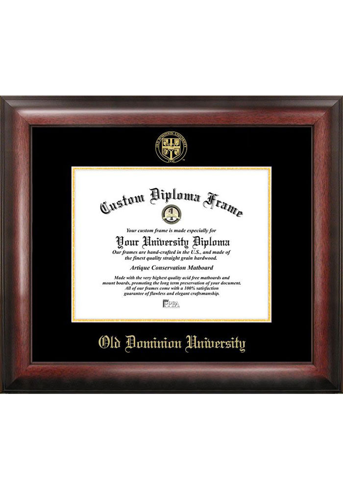 Old Dominion Monarchs Gold Embossed Diploma Frame Picture Frame - Image 1