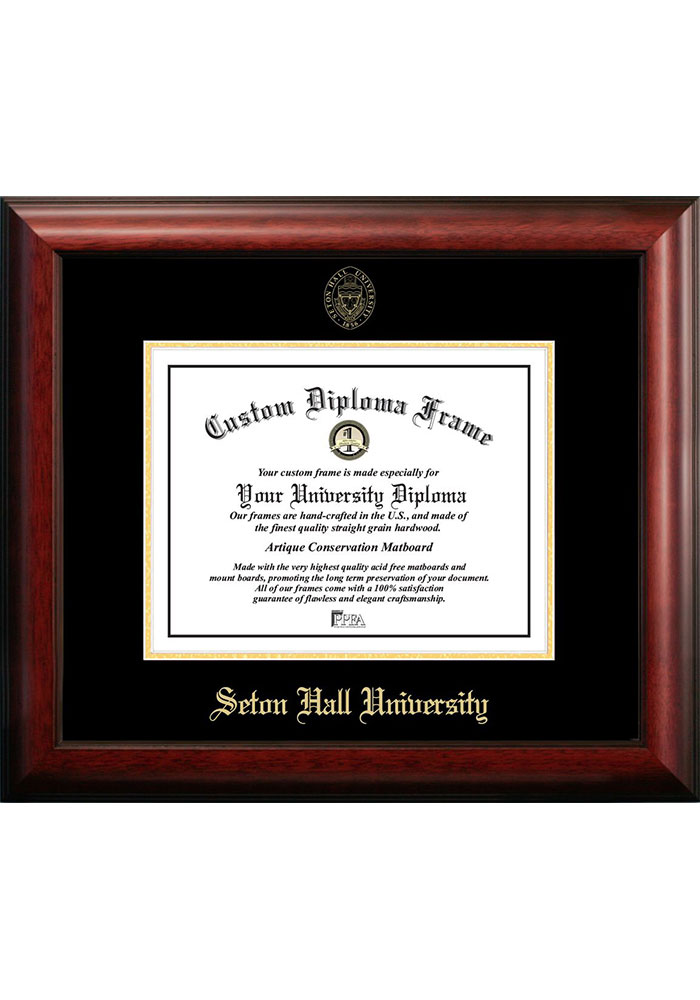 Seton Hall Pirates Gold Embossed Diploma Frame Picture Frame - Image 1