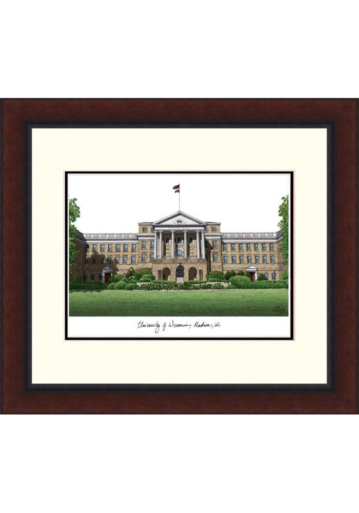 Wisconsin Badgers Legacy Campus Lithograph Wall Art - Image 1