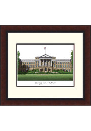 Wisconsin Badgers Legacy Campus Lithograph Wall Art