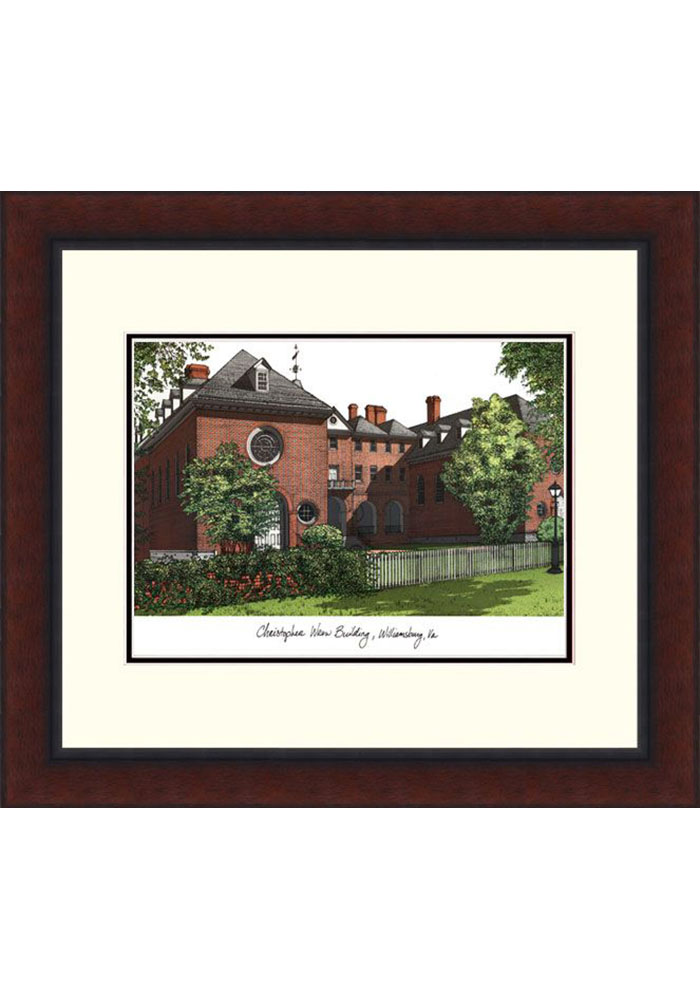 William & Mary Tribe Legacy Campus Lithograph Wall Art - Image 1
