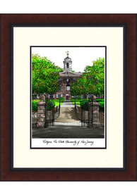 Rutgers Scarlet Knights Legacy Campus Lithograph Wall Art