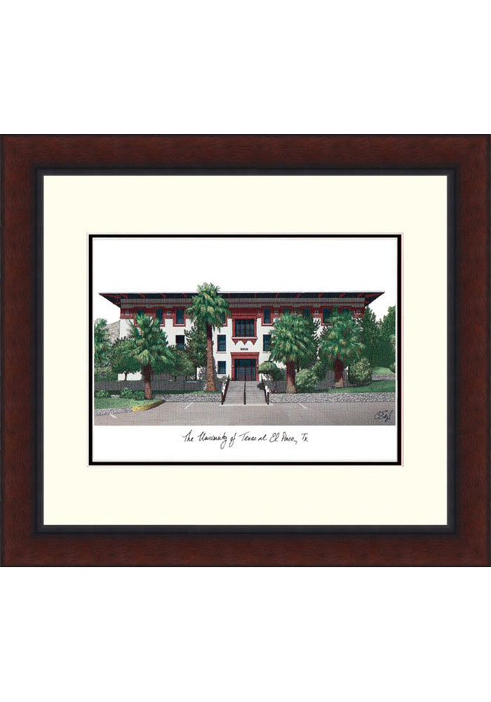 UTEP Miners Legacy Campus Lithograph Wall Art - Image 1