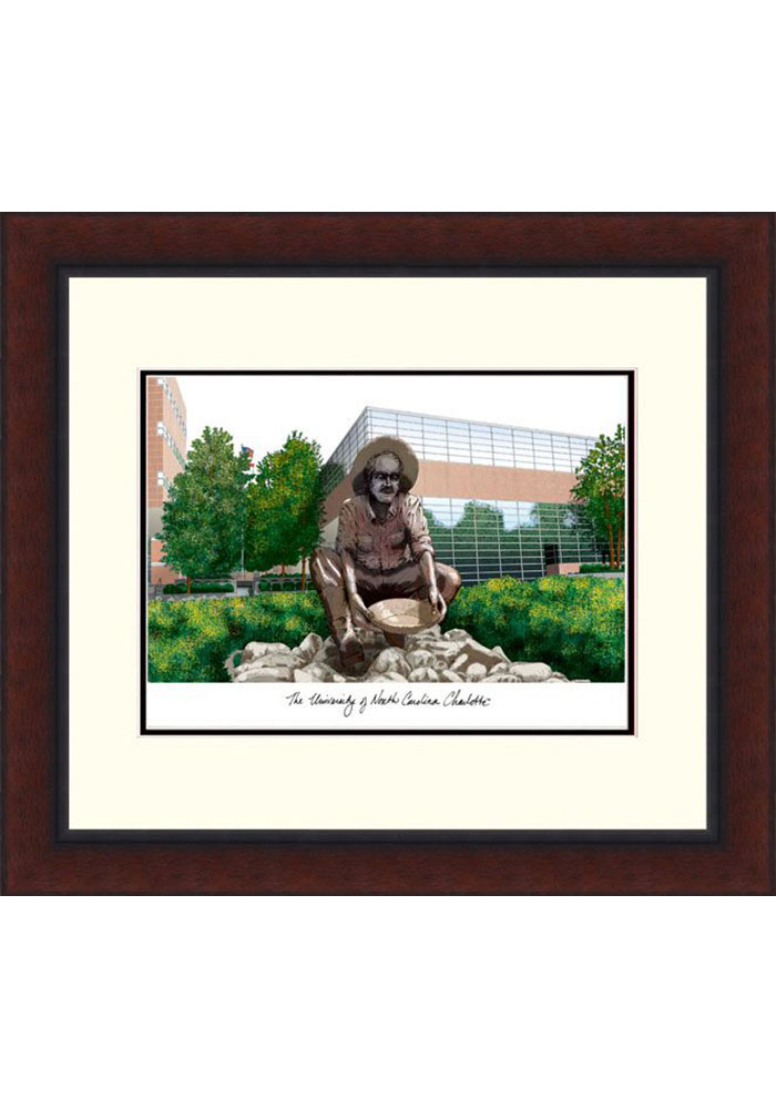 UNCC 49ers Legacy Campus Lithograph Wall Art - Image 1