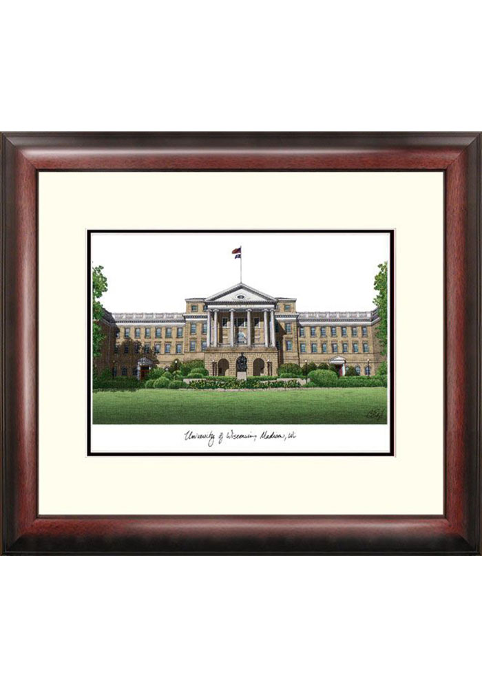 Wisconsin Badgers Campus Lithograph Wall Art - Image 1