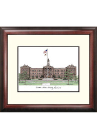 Western Illinois Leathernecks Campus Lithograph Wall Art
