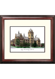 Wayne State Warriors Campus Lithograph Wall Art