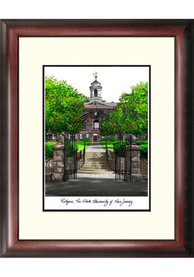 Rutgers Scarlet Knights Campus Lithograph Wall Art