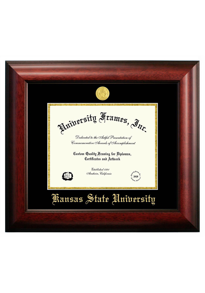 K-State Wildcats Satin 8 1/2x11 Diploma Picture Frame - Image 1