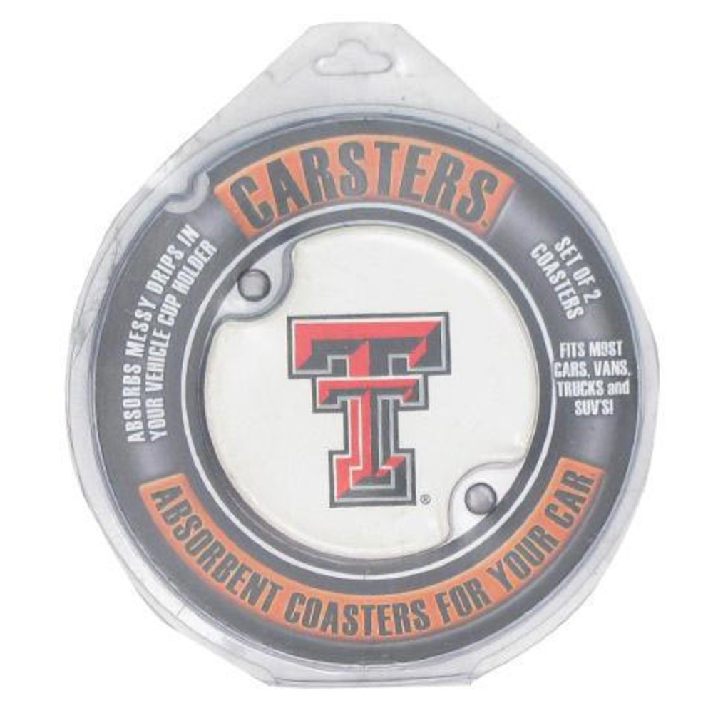 Texas Tech Red Raiders 2 Pack Auto Car Coaster - Image 1