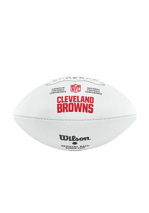 Cleveland Browns Official Team Logo Autographed Football