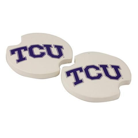 TCU Horned Frogs 2 Pack Auto Car Coaster - Image 1