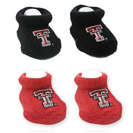 Texas Tech Red Raiders Baby 2 Pack Bootie Boxed Set - Red