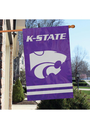 K-State Wildcats 28x44 Grey Applique Sleeve Banner
