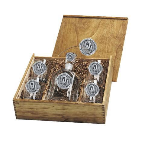 Oklahoma Sooners Capitol Decanter Set - Image 1
