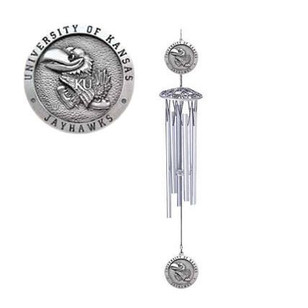 Kansas Jayhawks Team Logo Windchime