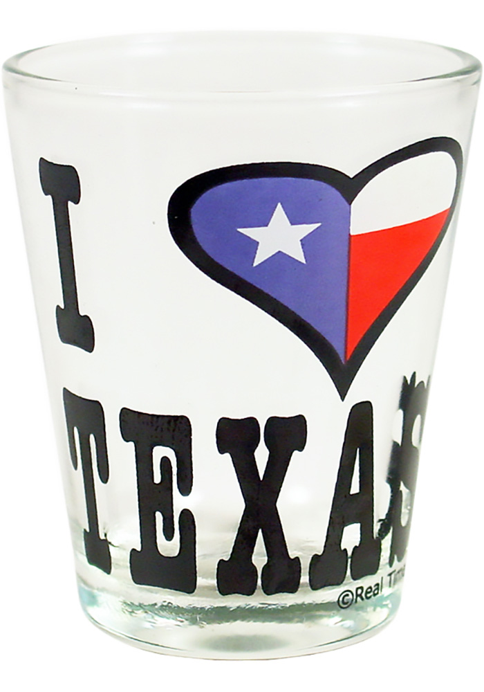 Texas I Heart Texas Shot Glass - Image 1