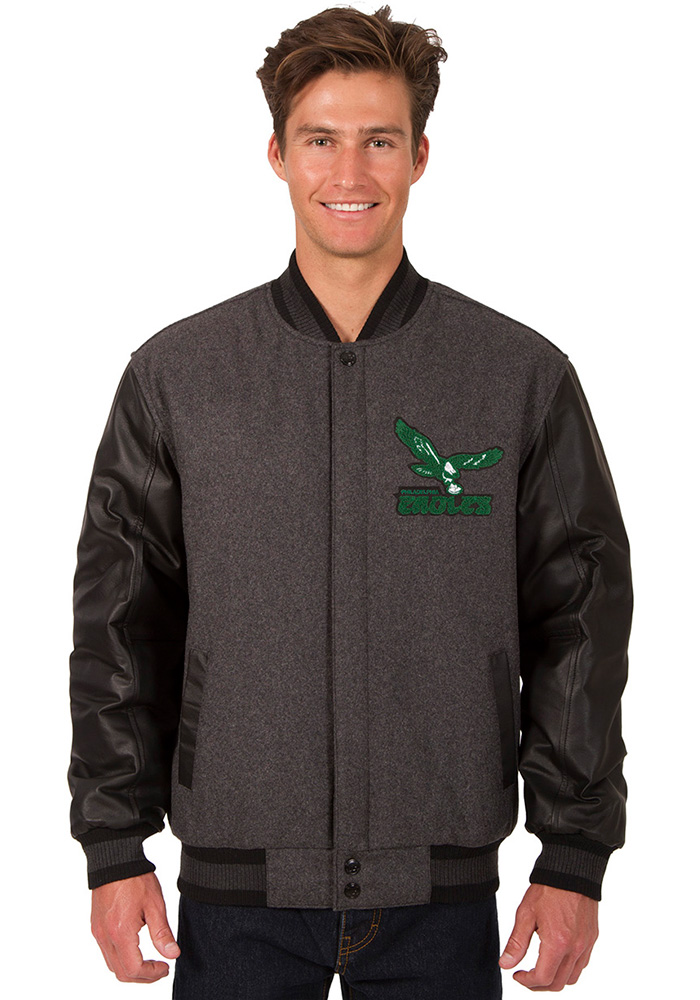 Philadelphia Eagles Mens Black Fly Heavyweight Jacket - Image 1