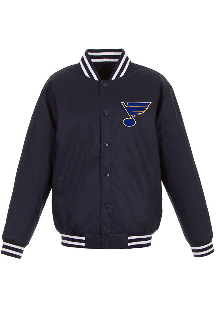 St Louis Blues Mens Navy Blue Poly-Twill Heavyweight Jacket - Image 1