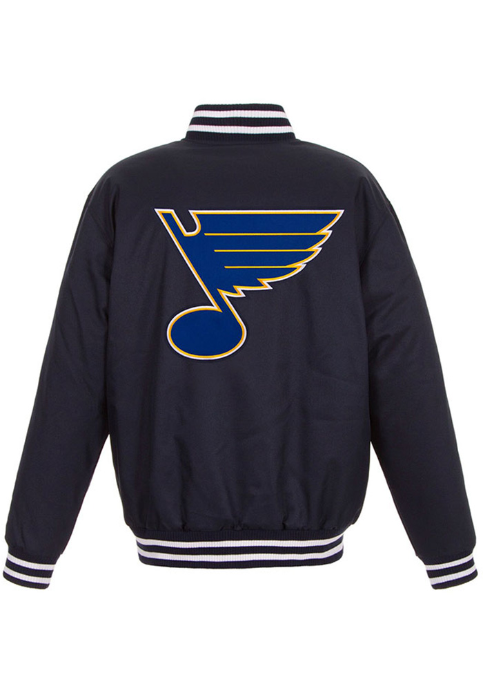 St Louis Blues Mens Navy Blue Poly-Twill Heavyweight Jacket - Image 2