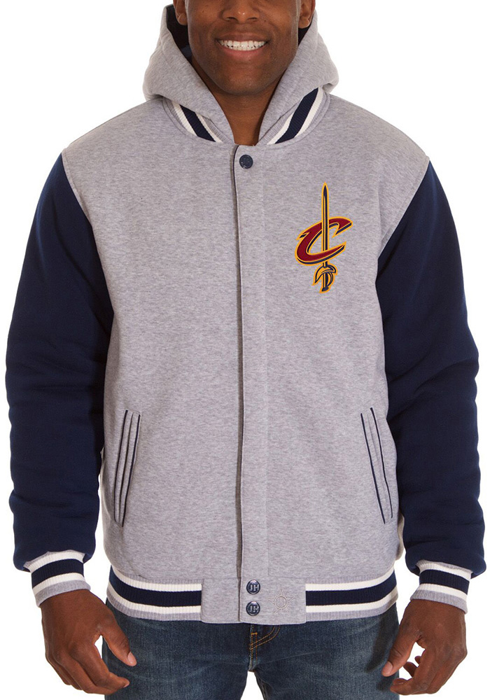 Cleveland Cavaliers Mens Grey Reversible Hood Heavyweight Jacket - Image 1