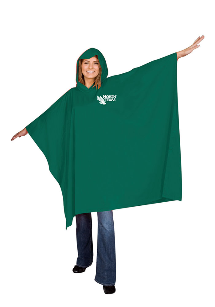 North Texas Mean Green LW Poncho - Image 1
