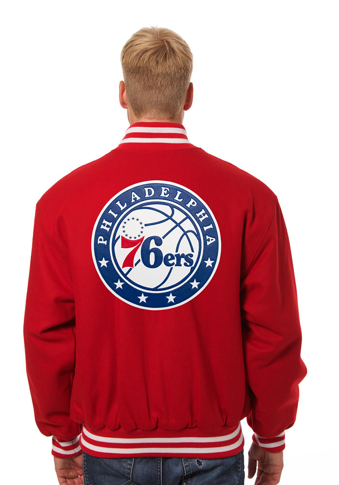Philadelphia 76ers Mens Red all wool jacket Heavyweight Jacket - Image 2