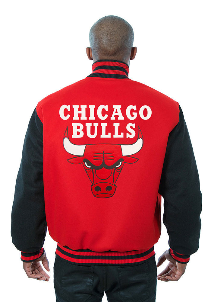 Chicago Bulls Mens Red all wool jacket Heavyweight Jacket - Image 2