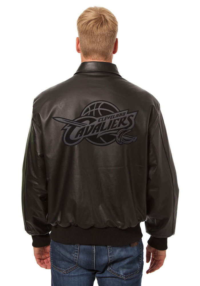 Cleveland Cavaliers Mens Black all leather jacket Heavyweight Jacket - Image 2