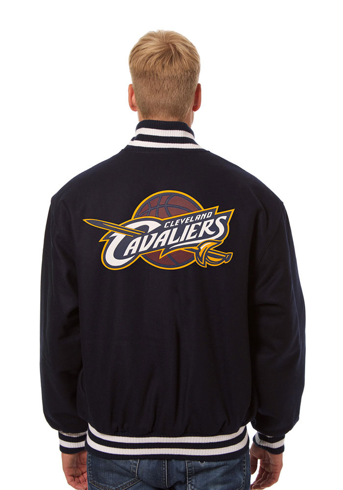 Cleveland Cavaliers Mens Navy Blue all wool jacket Heavyweight Jacket - Image 2