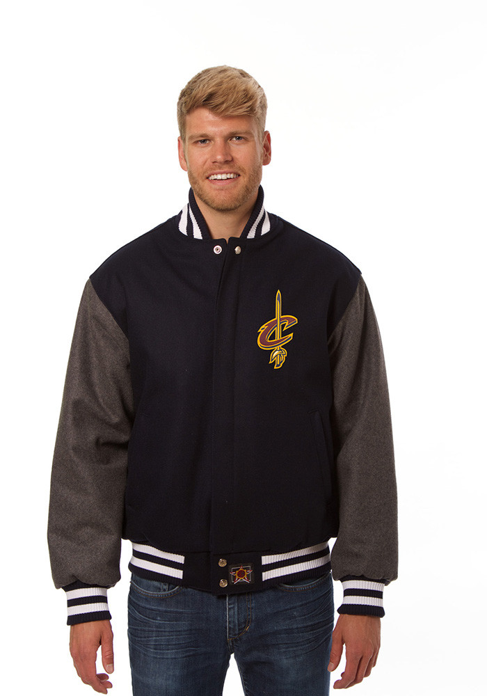 Cleveland Cavaliers Mens Blue all wool jacket Heavyweight Jacket - Image 1