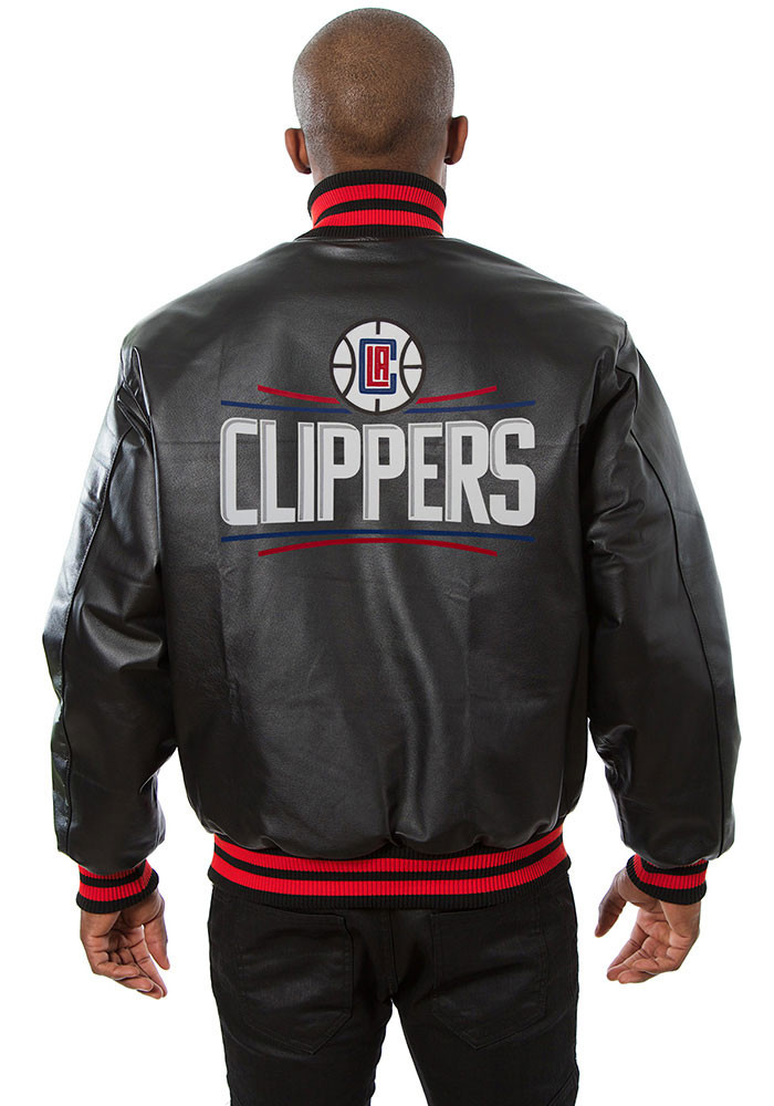 Los Angeles Clippers Mens Black all leather jacket Heavyweight Jacket - Image 2