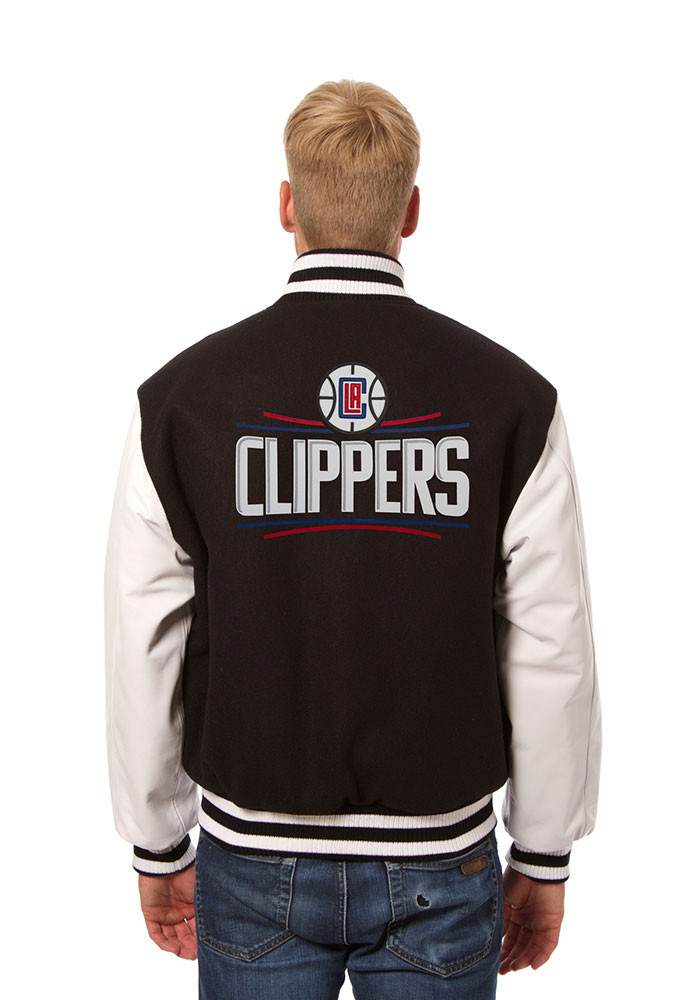 Los Angeles Clippers Mens Black wool body, leather sleeve jacket Heavyweight Jacket - Image 2