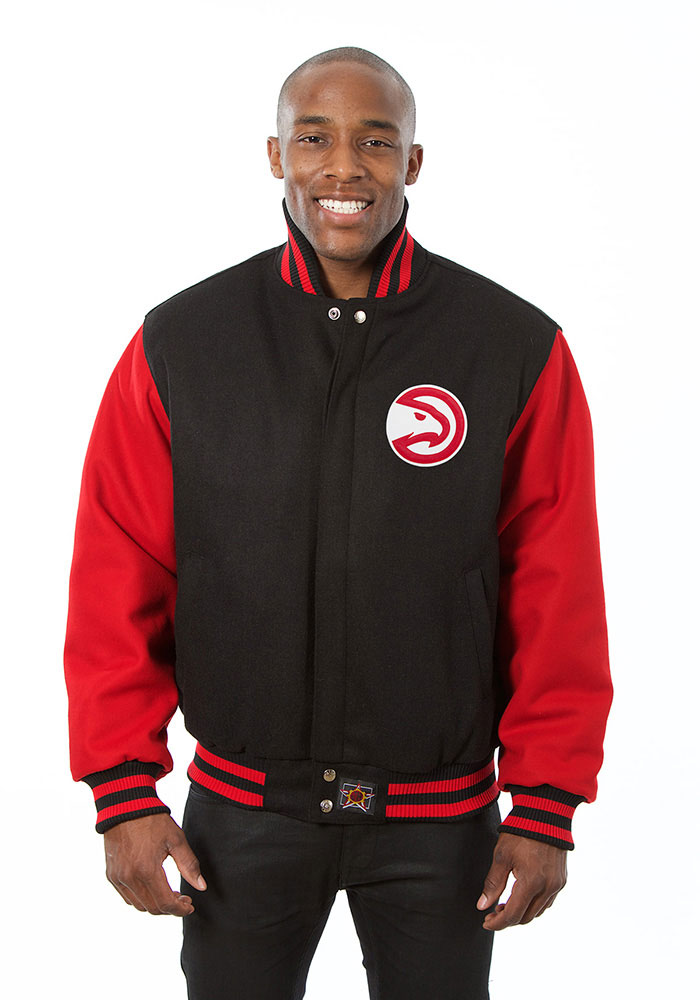 Atlanta Hawks Mens Black all wool jacket Heavyweight Jacket - Image 1