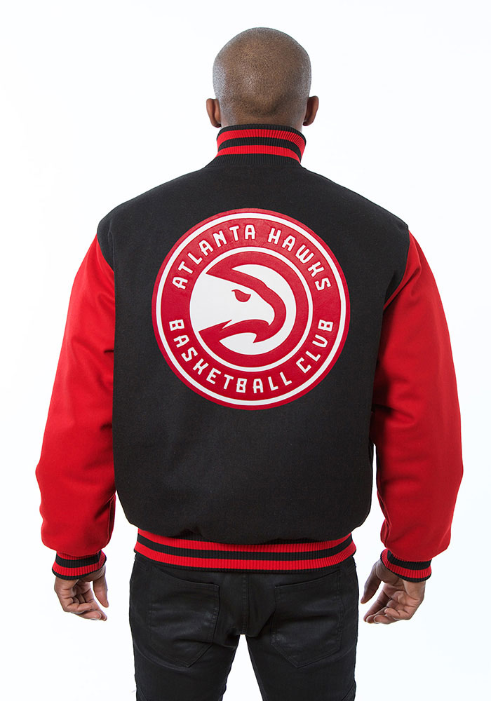 Atlanta Hawks Mens Black all wool jacket Heavyweight Jacket - Image 2