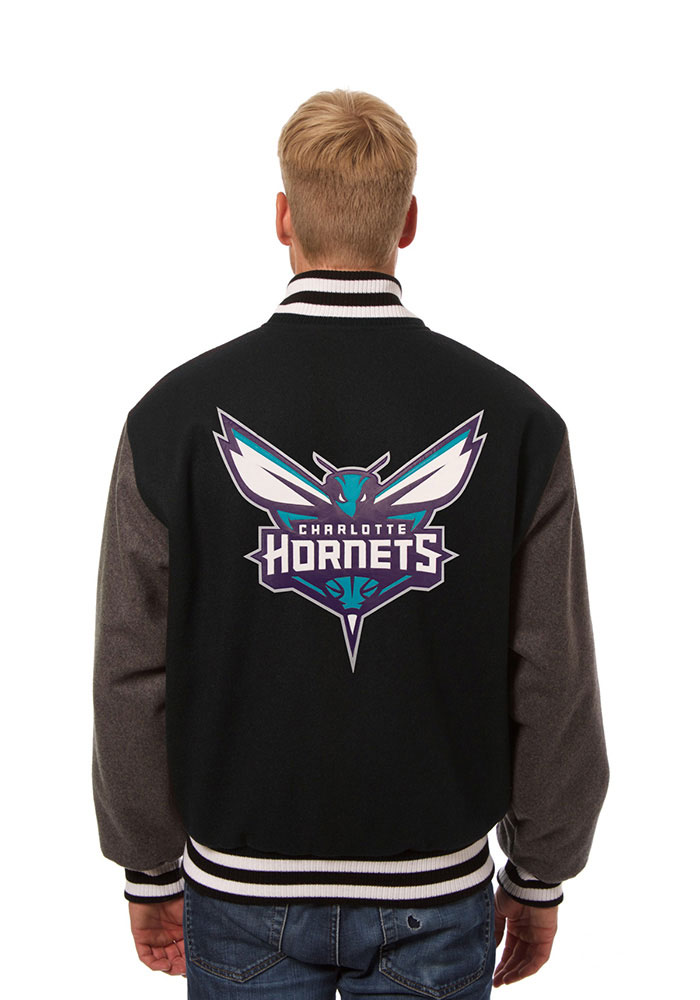 Charlotte Hornets Mens Black all wool jacket Heavyweight Jacket - Image 2