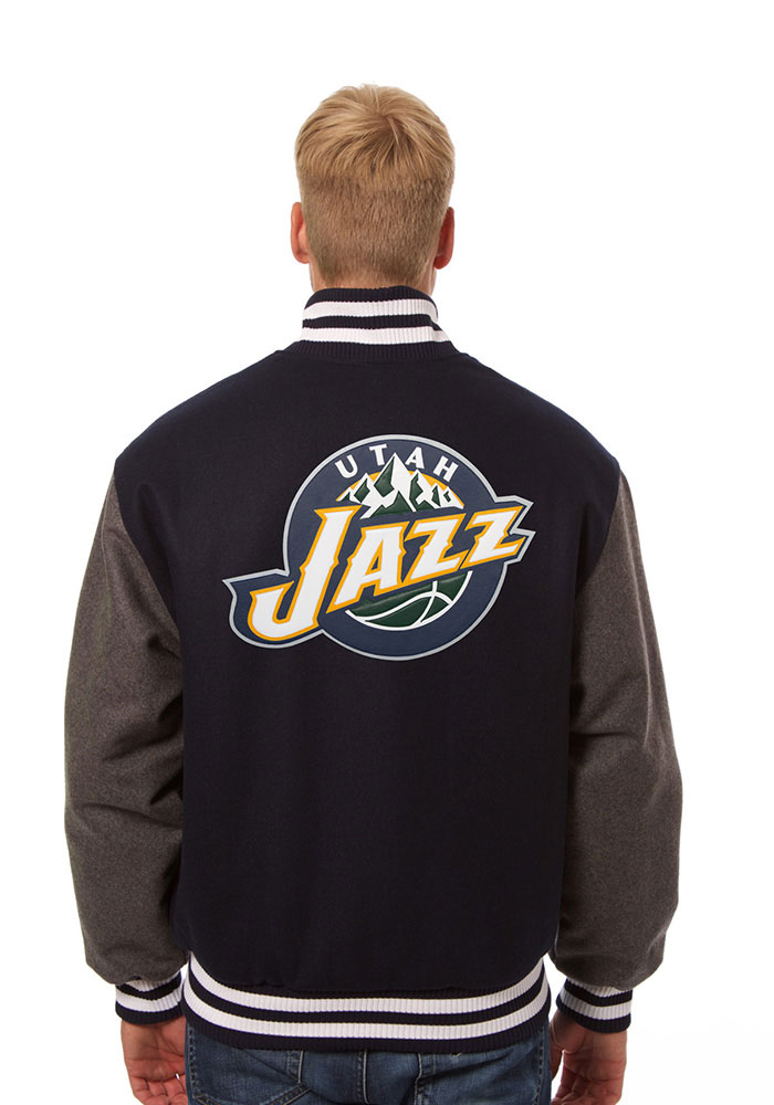 Utah Jazz Mens Blue all wool jacket Heavyweight Jacket - Image 2