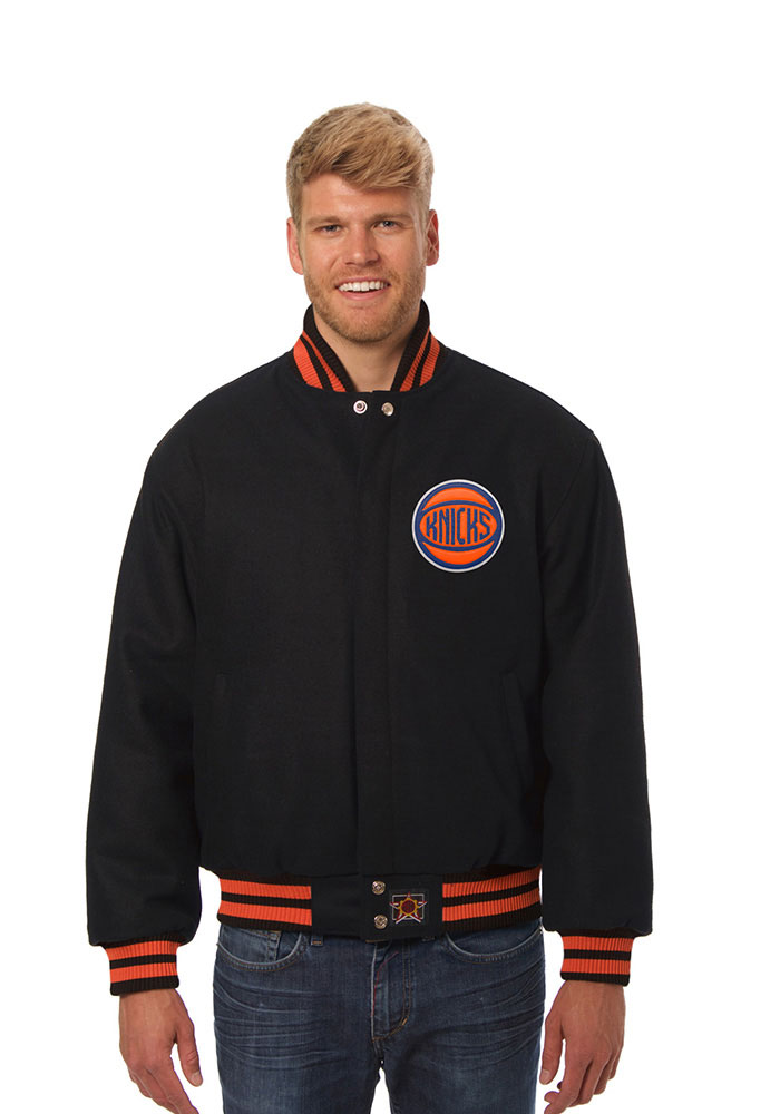 New York Knicks Mens Black all wool jacket Heavyweight Jacket - Image 1