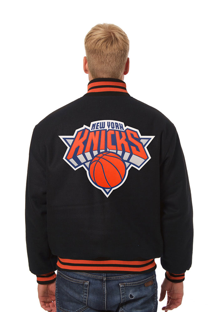 New York Knicks Mens Black all wool jacket Heavyweight Jacket - Image 2