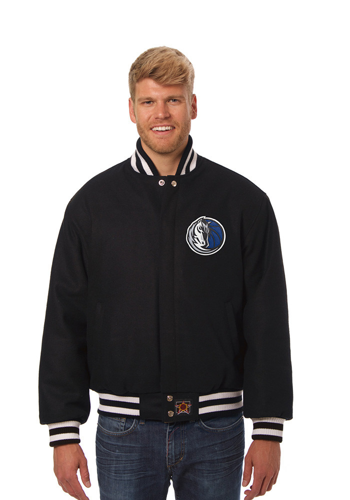 Dallas Mavericks Mens Black all wool jacket Heavyweight Jacket - Image 1