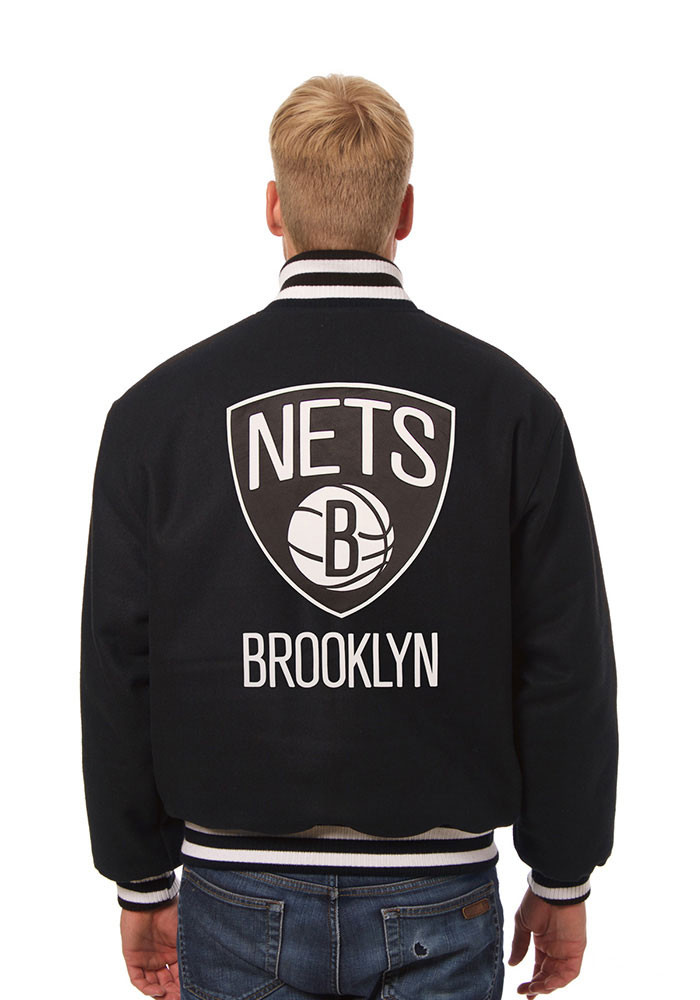 Brooklyn Nets Mens Black all wool jacket Heavyweight Jacket - Image 2